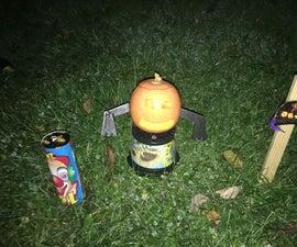 Mini Pumpkin Man (with Fireworks)