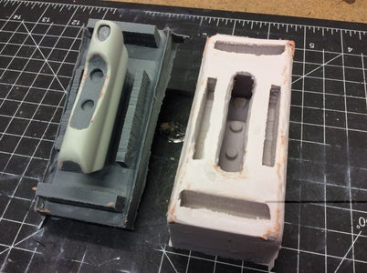 Making a Two Part Silicone Mold of the Master Part