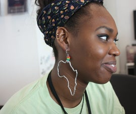 How to make Africa Earrings