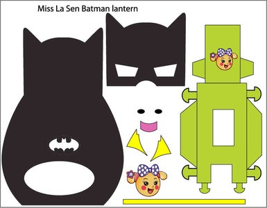 Download This Lantern for Batman Shape and 2 Brackets. Print It in A3 Size Paper.