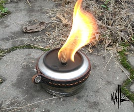 An Alcohol Burner From a Glass Jar and Aluminium Can