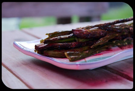 Apple Wood Smoked Asparagus