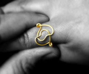 Intertwined Hearts Wire Ring for Your Valentine