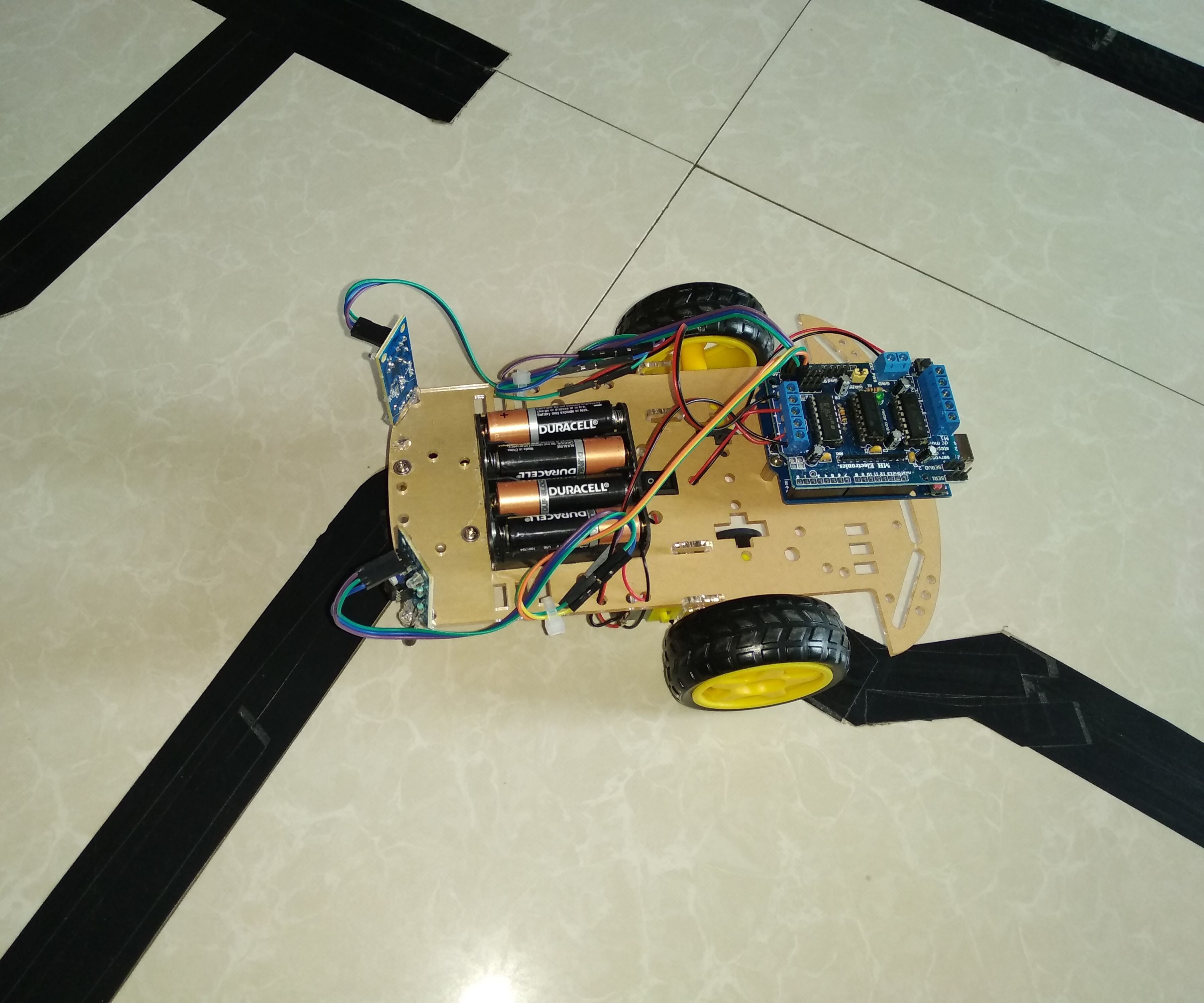 How To Make Line Follower Robot Using Arduino 5 Steps Instructables