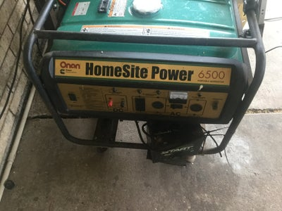 Trying to Start My Generator