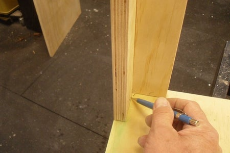 Mark and Cut the Areas of the Bottom Notched for the Supports