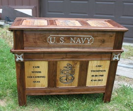 Navy Retirement Shadow Box and Chest