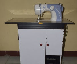 DIY Electric Sewing Machine Table