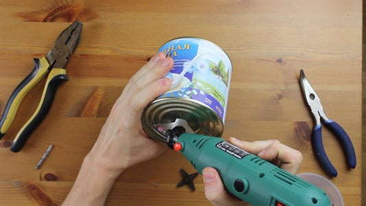 Cut Holes in the Cans