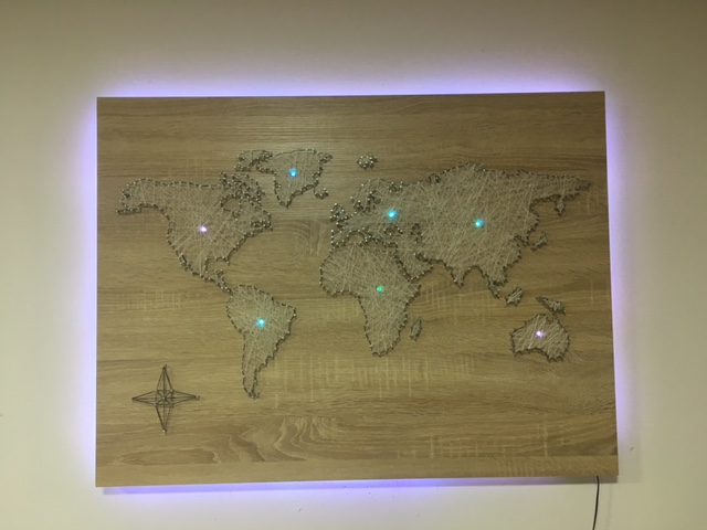 Picture of World Map From Sew
