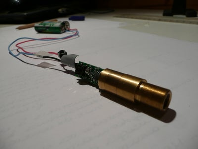 Add Wires and a Button to the Laser