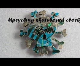 Upcycling Skateboard Clock DIY