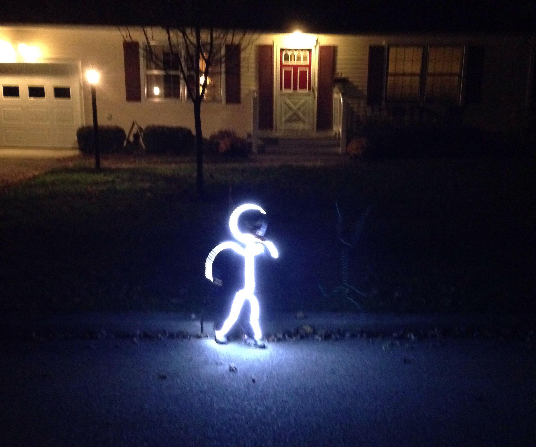 Light Up Stick Figure Bodysuit Costume