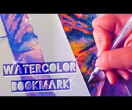 DIY SUNSET WATERCOLOR Bookmark
