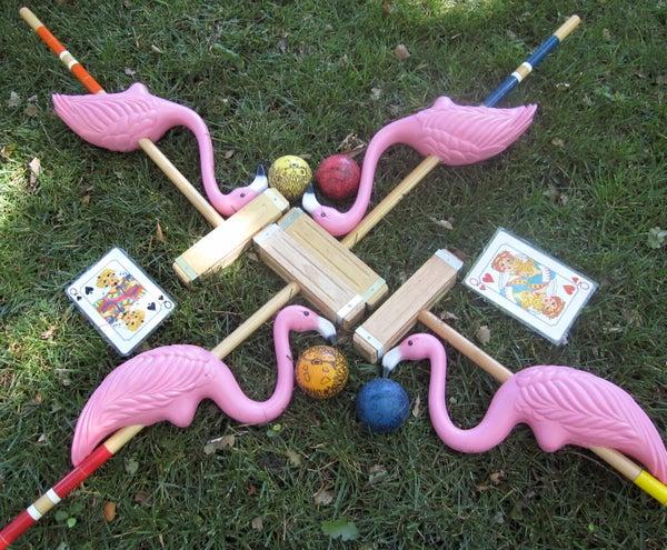 Pink Flamingo Croquet