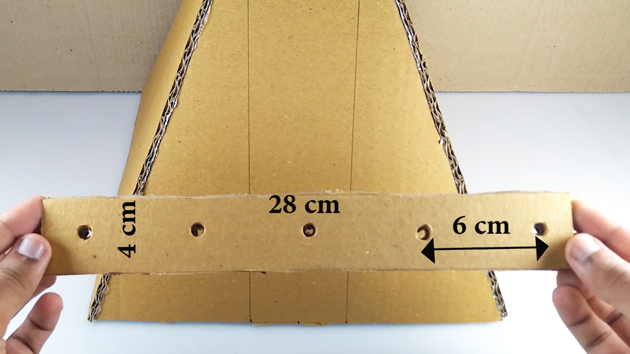 Picture of Make 2 Cardboard Strips With Holes Separated at Equi-distance ( Refer Video )
