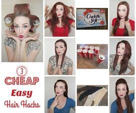 3 Cheap Easy Hair Hacks!