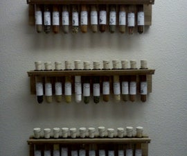 Apothecary-labeled test tube spice rack
