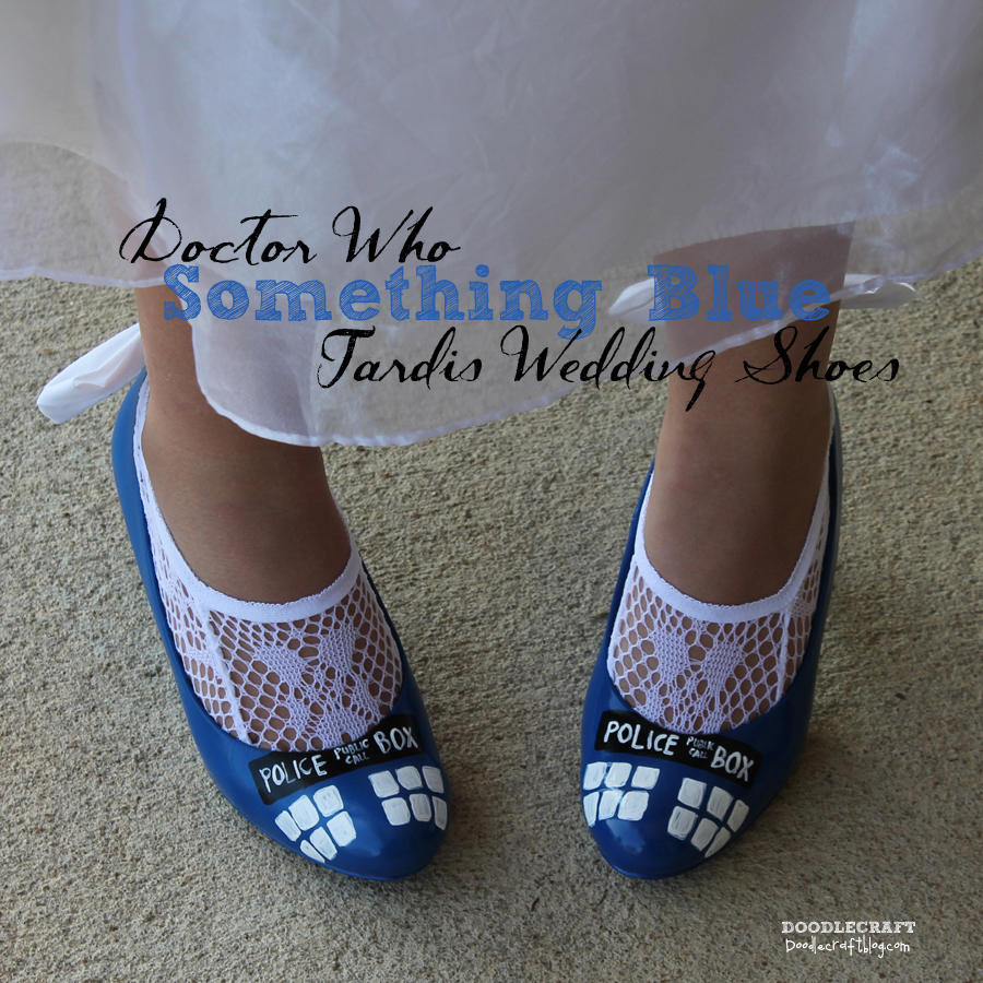 """Picture of Doctor Who """"Something Blue"""" TARDIS Shoes!"""