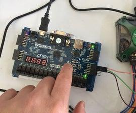 Debonucing Button on Basys 3, Xilinx FPGA Development Board