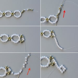 Start to Make the Middle Part of the Necklace