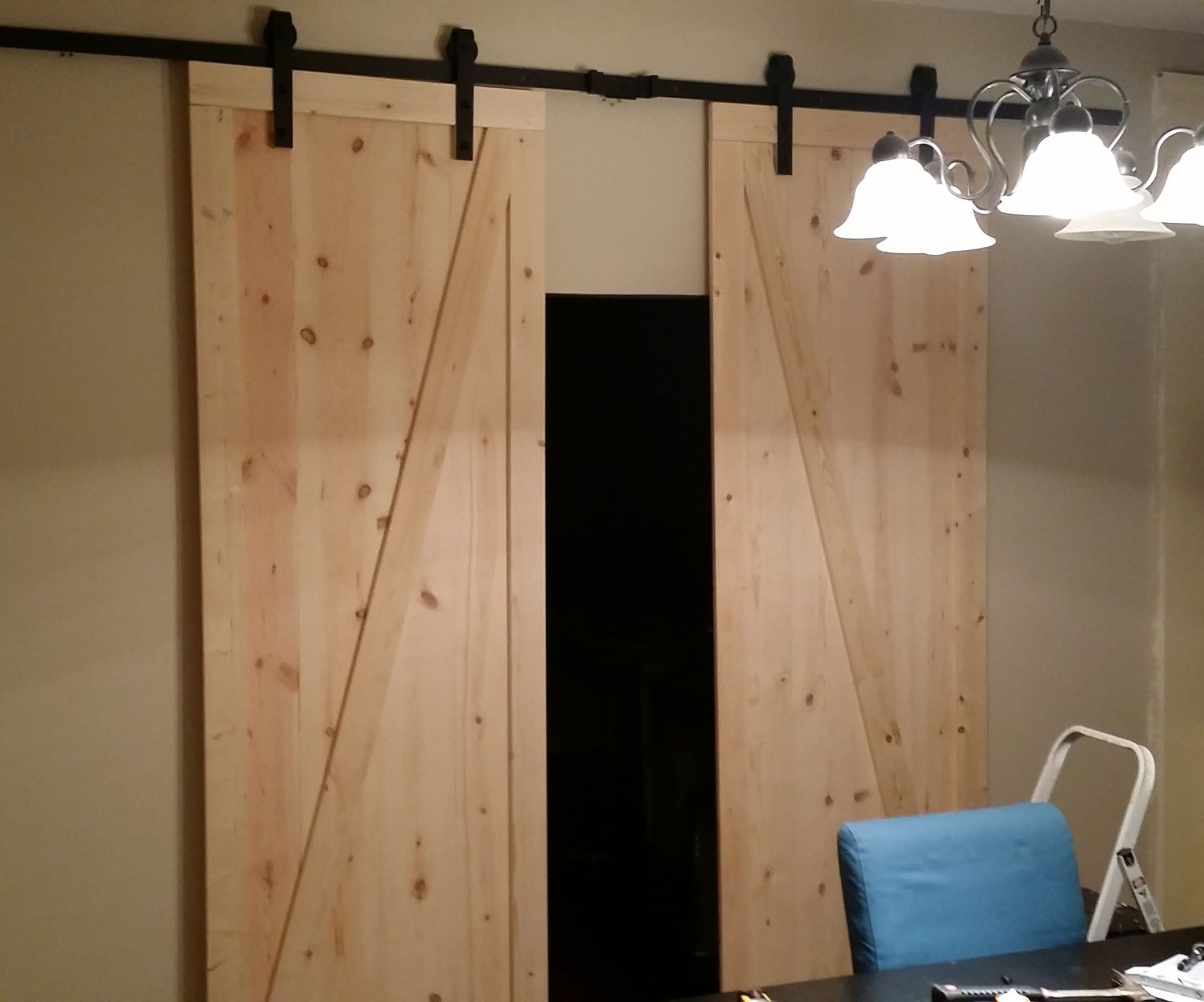 Diy Barn Doors On Somewhat Of A Budget 5 Steps Circuit Board Table Decor Nifty Ideas Crafty Crafts Pin