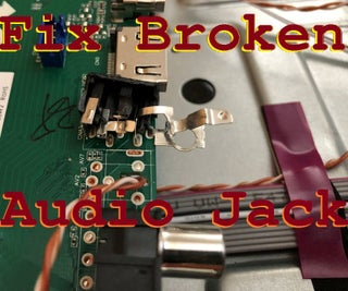 How to Fix the Audio Jack on a TV