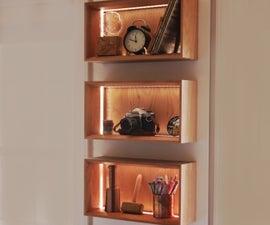LED Floating Cube Shelves