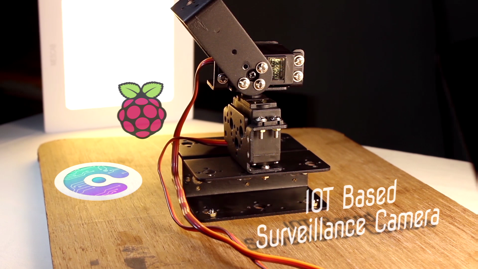 Picture of IOT Based Surveillance Camera || Raspberry Pi + Pan-Tilt Arrangement + Cayenne + Webcam Server