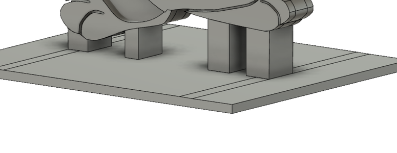Begin to Extrude the Stand
