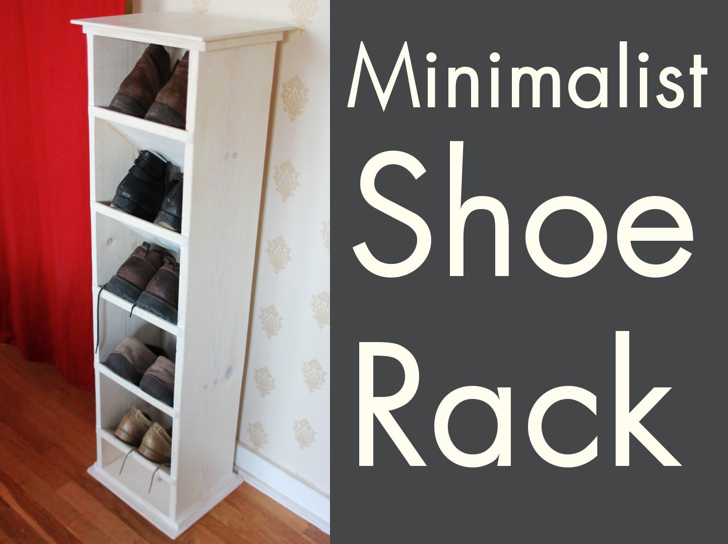 Picture of DIY Minimalist Shoe Rack