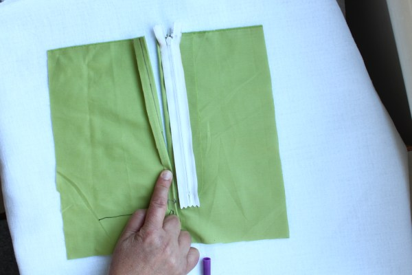 Picture of Preparation to Stitch the Left Side