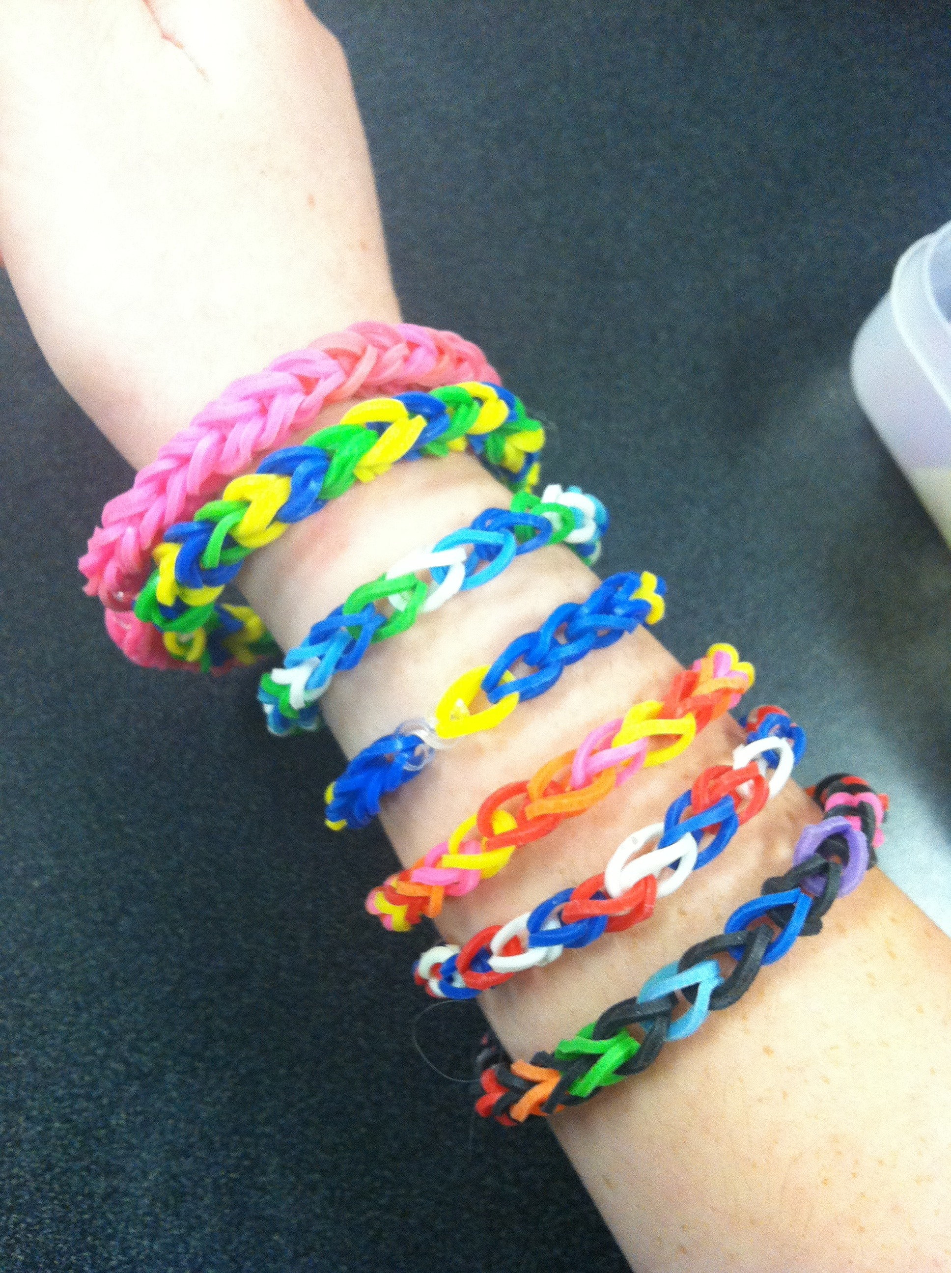 Rainbow Loom Bracelet Without Rainbow Loom With Common Household Objects 5 Steps With Pictures Instructables