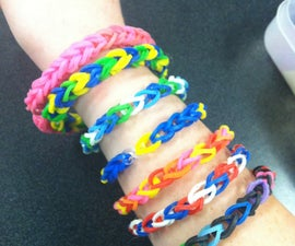 Rainbow Loom Bracelet WITHOUT Rainbow Loom With Common Household Objects
