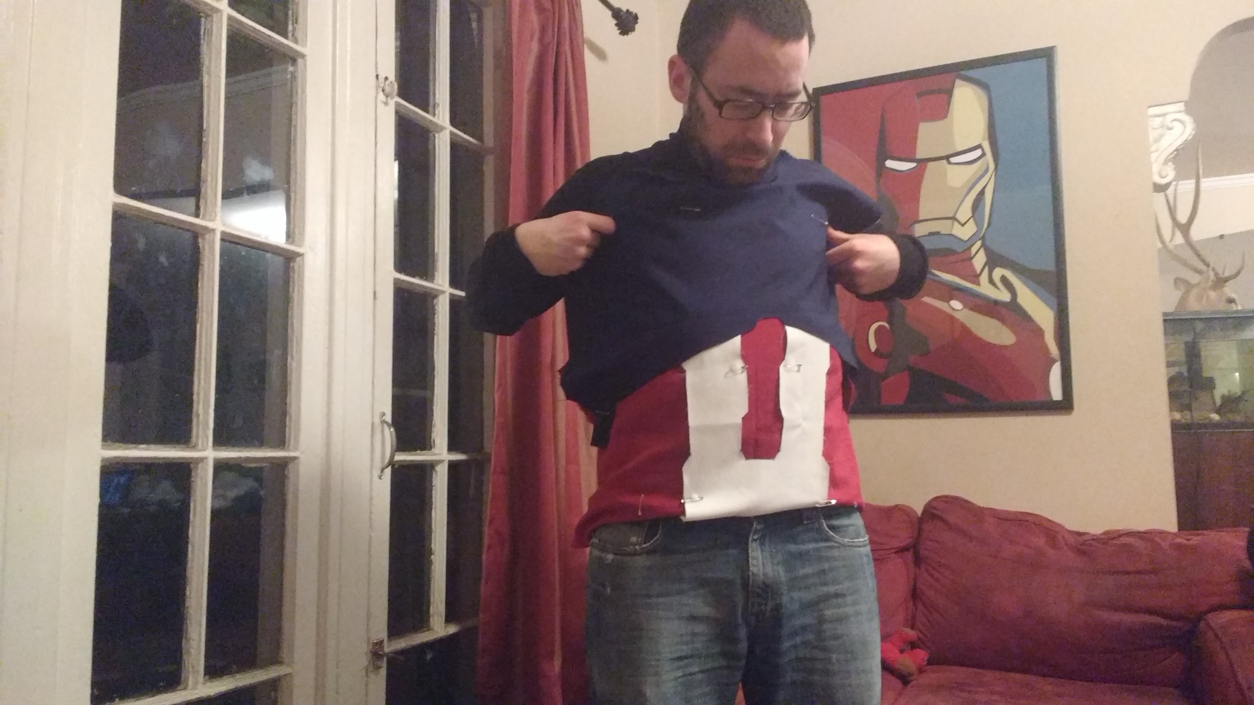 Picture of Cut Out the Template for the Blue Chest Piece