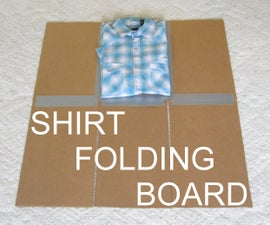 Shirt Folding Board from Cardboard and Duct Tape