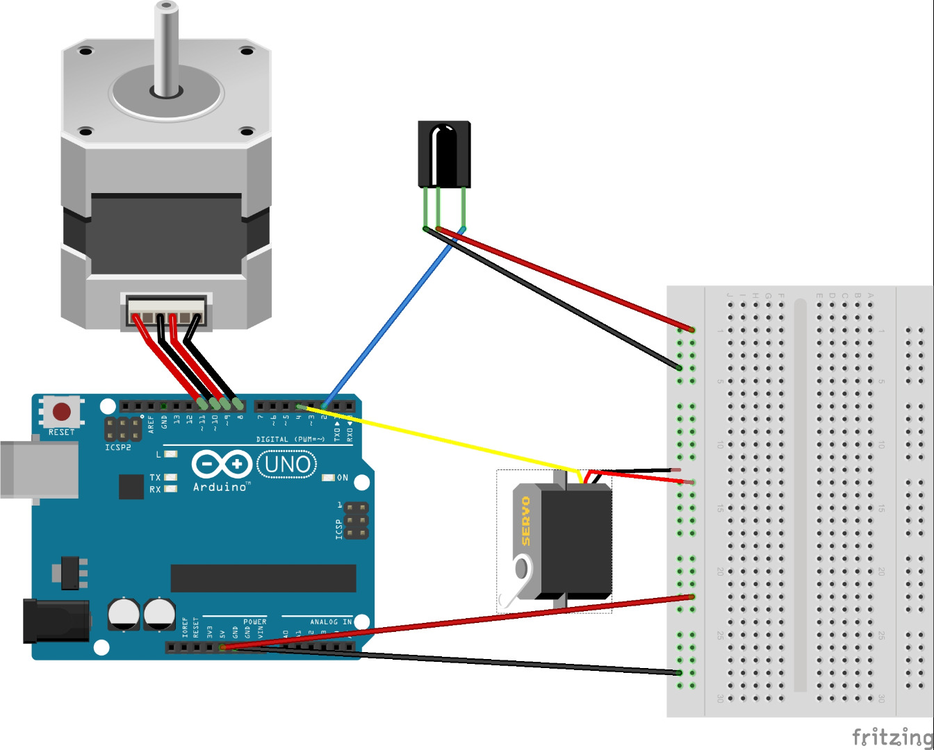 Picture of Wire Up Your Arduino and Components