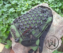 Backpack Cargo Net From Inner Tubes