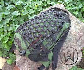 Backpack Cargo Net From Inner Tubes