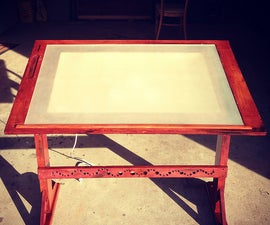 Antique-Inspired Drawing Table w/ Built-In Lightbox