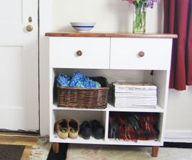 Beautiful Entryway Table W/ Dovetail Drawers