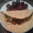 Delicious and Super Simple Salsa Wrap Snack