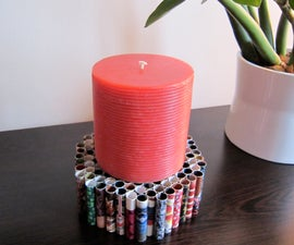 Rolled Paper Candle Holder