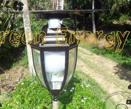 DIY Automatic Multi Usage Solar Garden Lamp ( 12w High Power Lamp With  USB Charger & PIR Motion Sensor...)