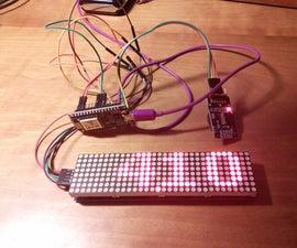 Simple Dot Matrix Clock Using Node MCU
