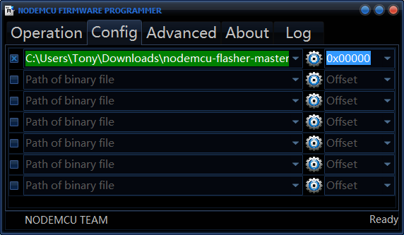 Picture of Select the New Firmware File