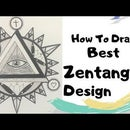 How to Draw Best Zentangle Illuminati for Beginners