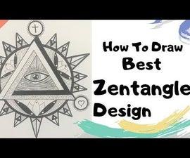 How to Draw Best Zentangle Illuminati for Beginners