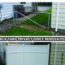 Back Yard Privacy Fence Renovation