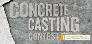 Concrete & Casting Contest